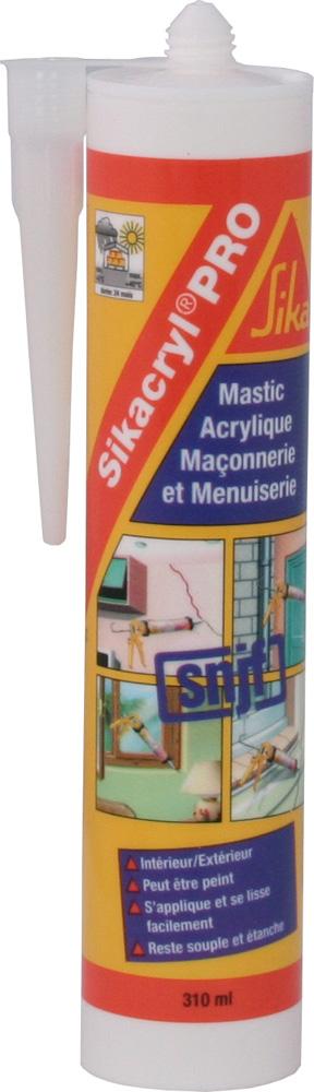 pose-fenetre Cartouche de mastic acrylique